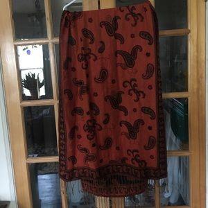 Reversible pashmina scarf